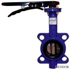 Межфланцевый затвор чугунный дисковый Dendor 017W Ду 700 с редуктором купить